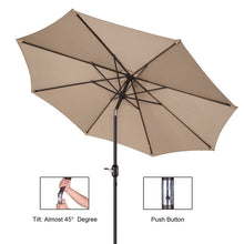 Load image into Gallery viewer, Coalville Manual Tilt Market Umbrella #1000