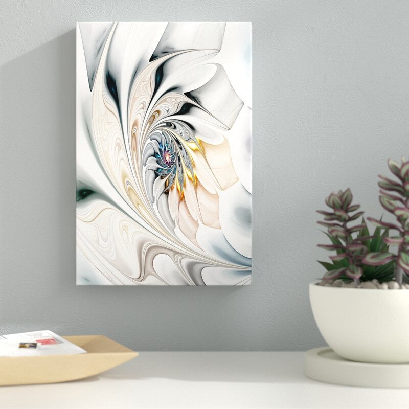 'White Stained Glass Art' - Unframed Print #577