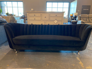 "Koger Velvet 88"" Flared Arm Sofa"