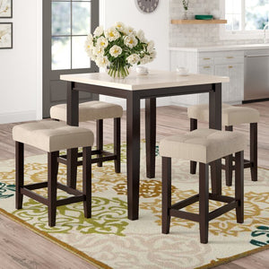 Skeens 5 Piece Solid Wood Dining Set #633