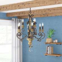 Load image into Gallery viewer, Windsor Rise 9-Light Chandelier #1018