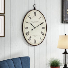 Load image into Gallery viewer, Dark brown Oversized Immanuel Wall Clock #835