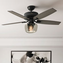 "Load image into Gallery viewer, 52"" Bennett 5 -Blade Standard Ceiling Fan with Remote and Light Kit Included #969"