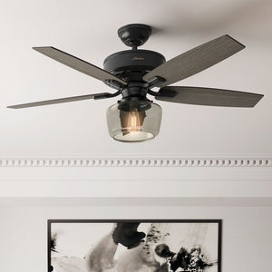 "52"" Bennett 5 -Blade Standard Ceiling Fan with Remote and Light Kit Included #969"