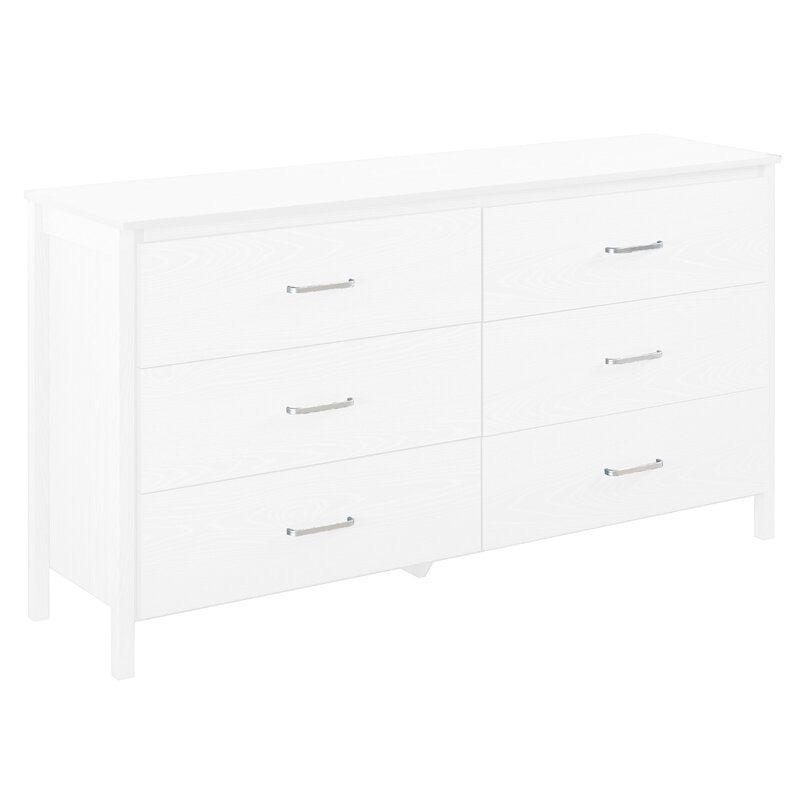 Lupe 6 Drawer Double Dresser #643