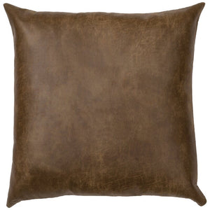 "(Set of 2)Tynan Faux Leather 26"" Euro Pillow Cover #780"