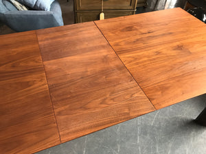 Mahogany Brown Wood Cade Extension Dining Table
