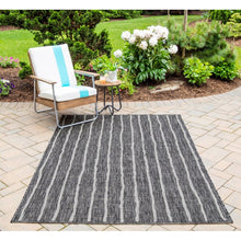 Load image into Gallery viewer, Sicily Charcoal Indoor/Outdoor Area Rug #723