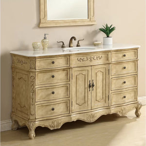 "Sturbridge 60"" Single Bathroom Vanity Set"