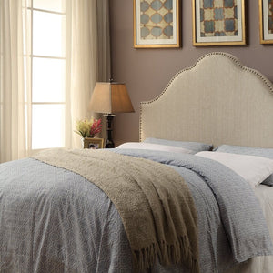 Haylee Arch Upholstered QUEEN Panel Headboard #1006