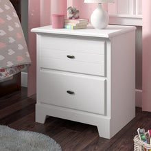 Load image into Gallery viewer, White Amarion 2 Drawer Nightstand #1073