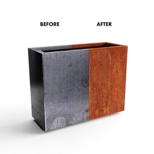 Metallic Series Corten Steel Planter Box #614