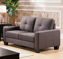 "Load image into Gallery viewer, 56"" Square Arm Loveseat (gray)  #5056"