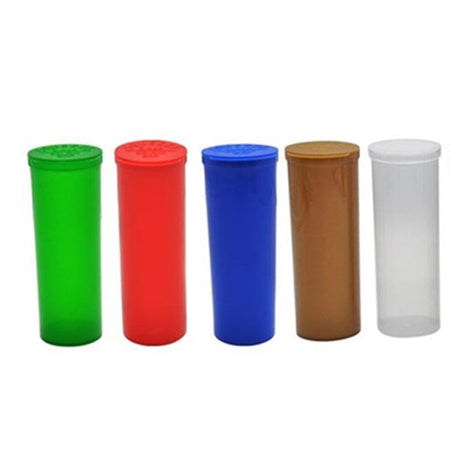 75 x 60 Dram Pop Top Storage Bottles - Mixed Colours