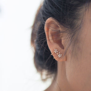 Hana Ear Crawlers (Rose Gold/Silver)