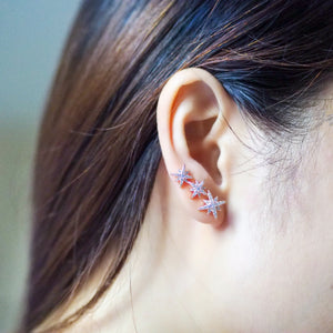 Astral Asymmetry Earrings (Rose Gold/Silver)