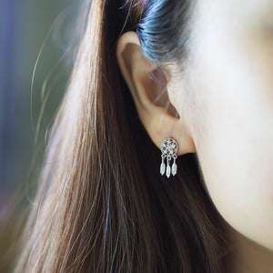 Dreamcatcher Earrrings (Silver/Rose Gold)