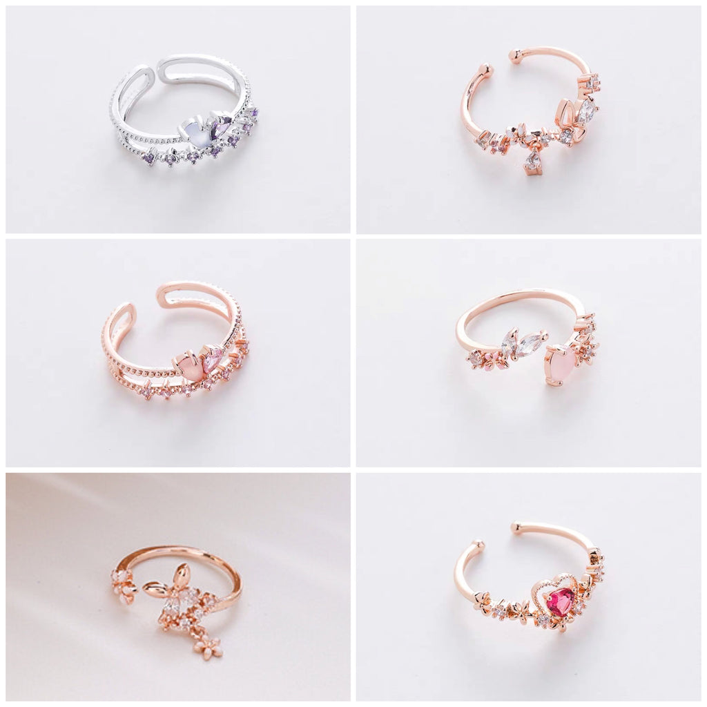 Assorted Floral Rings