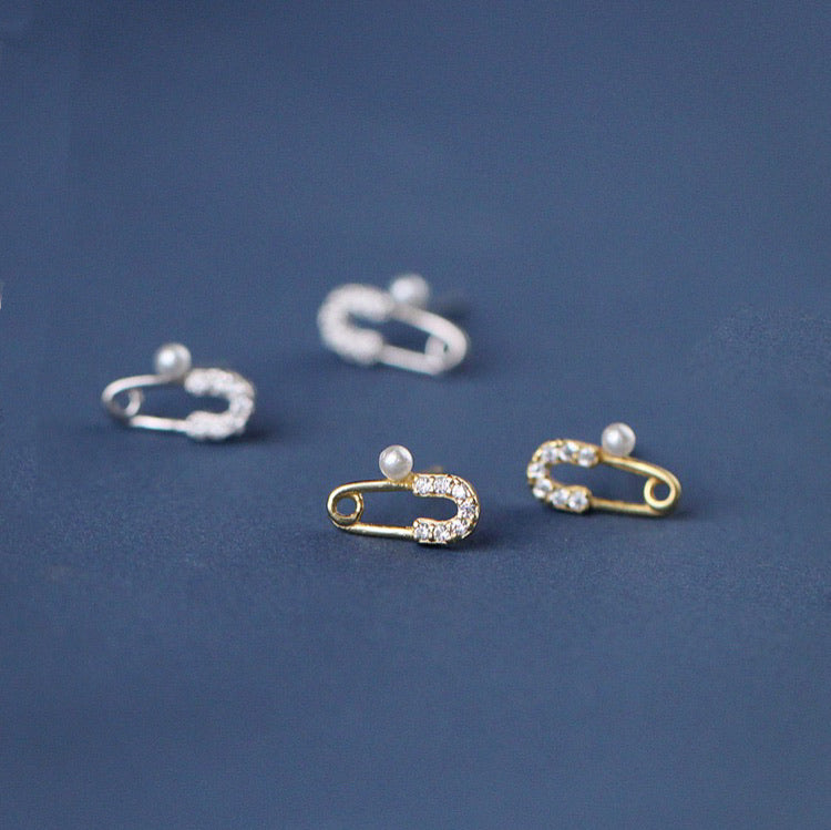 Safety Pin Mini Ear Studs