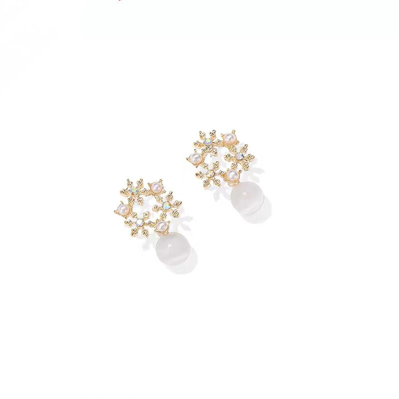 Iridescent Floral Earrings