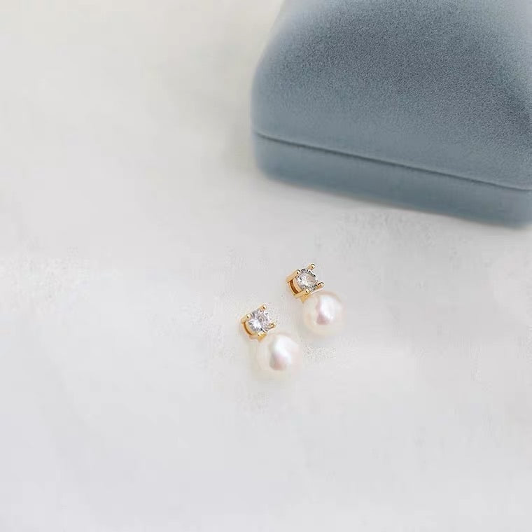Pearl Stud Earrings - BACKORDER