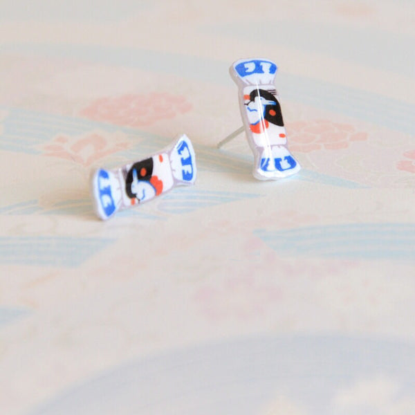 White Rabbit Candy Ear Studs