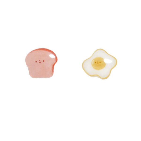 Egg and Toast Ear Studs