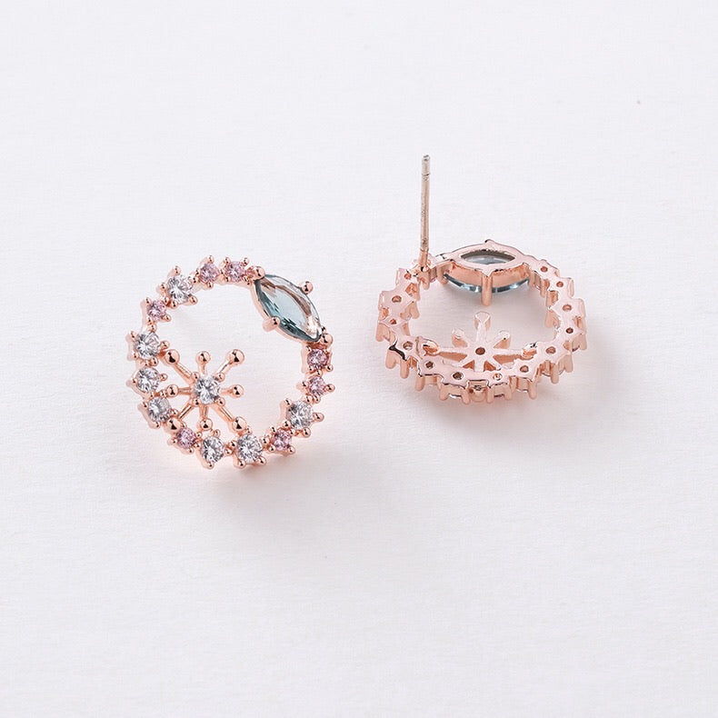 Natalie Garden Earrings (Silver/Rose Gold)