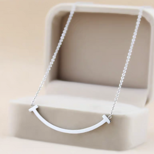 Smile Necklace (Rose Gold/Silver)