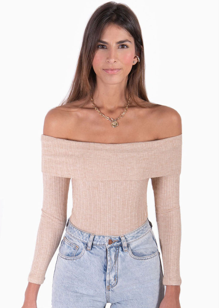 Blusa off shoulder manga larga - AINA