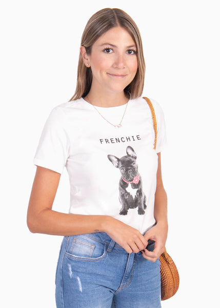 "Camiseta estampada ""Frenchie"" - JUDITH"