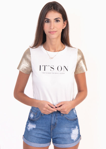 "Camiseta estampada ""It's on"" - TAMARA"