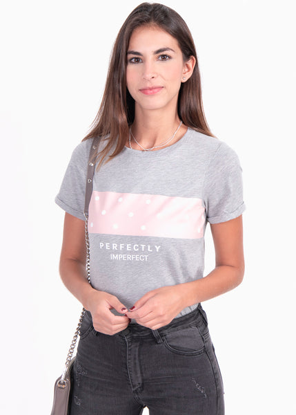 "Camiseta estampada ""Perfectly"" - VERONICA"