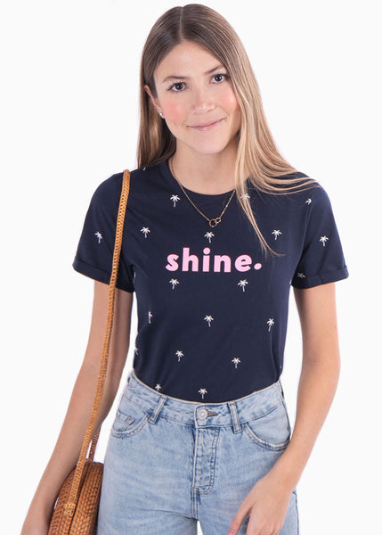 "Camiseta estampada ""Shine"" - FIDELMA"