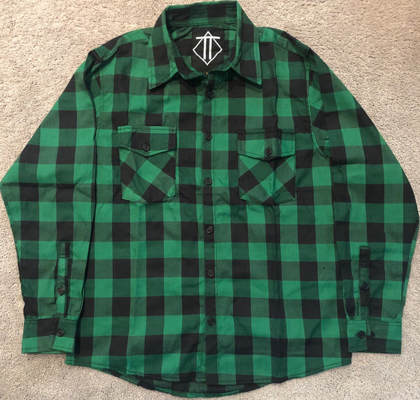 Mean Green Flannel