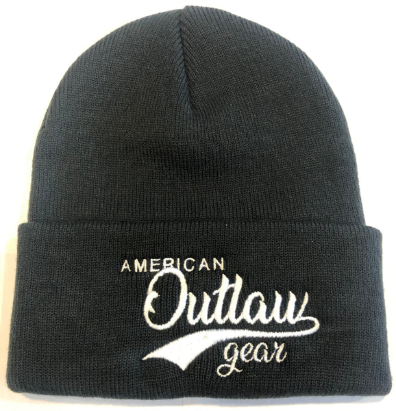 American Outlaw Beanie Black & White