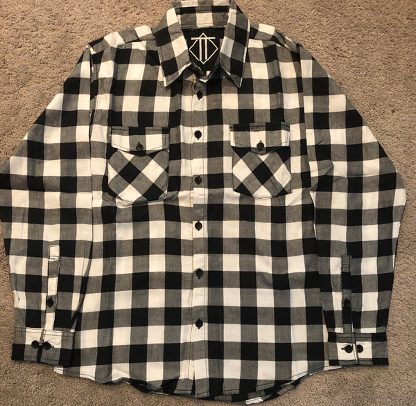 Black and White Outlaw Flannel