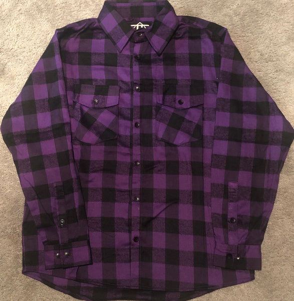 Purple & Black Flannel