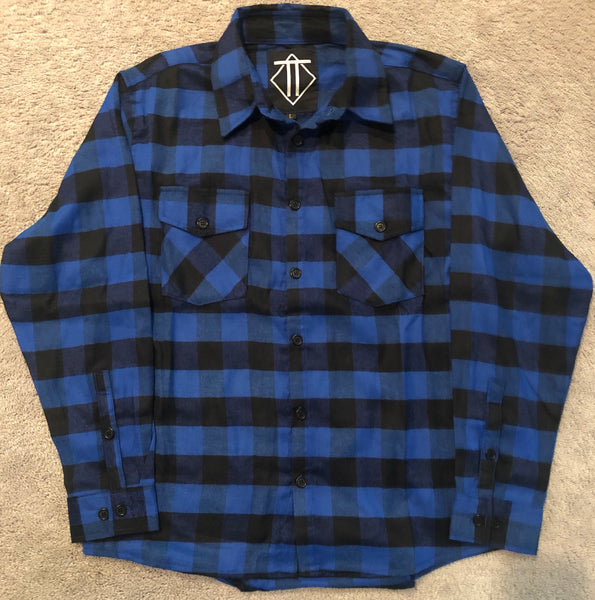Blue and Black Outlaw Flannel