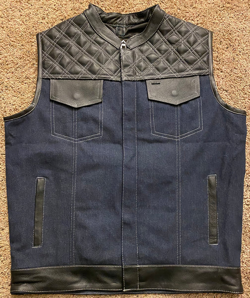Black and Blue Double Diamond Outlaw Vest