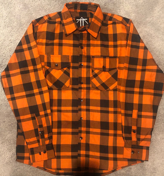 Orange & Black Flannel