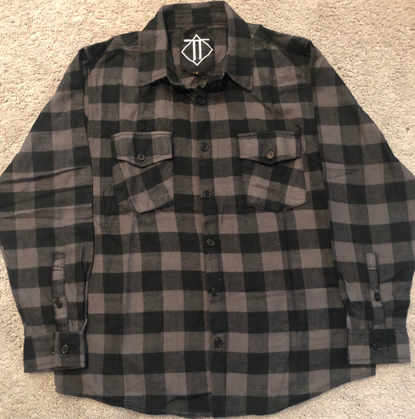 Black Grey Outlaw Flannel