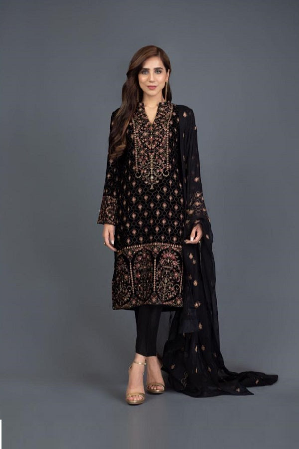 Black Indian Suit - Sherezade Boutique