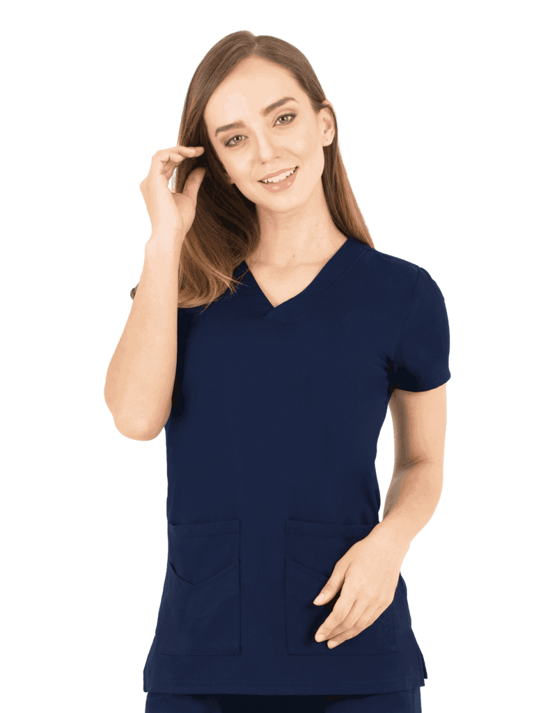 Life Threads | Women's Ergo 2.0 Utility Top - Navy Blue - 1