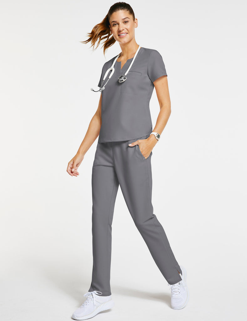 Jaanuu | Women's 1-Pocket Tuck-In Top - Gray - 2