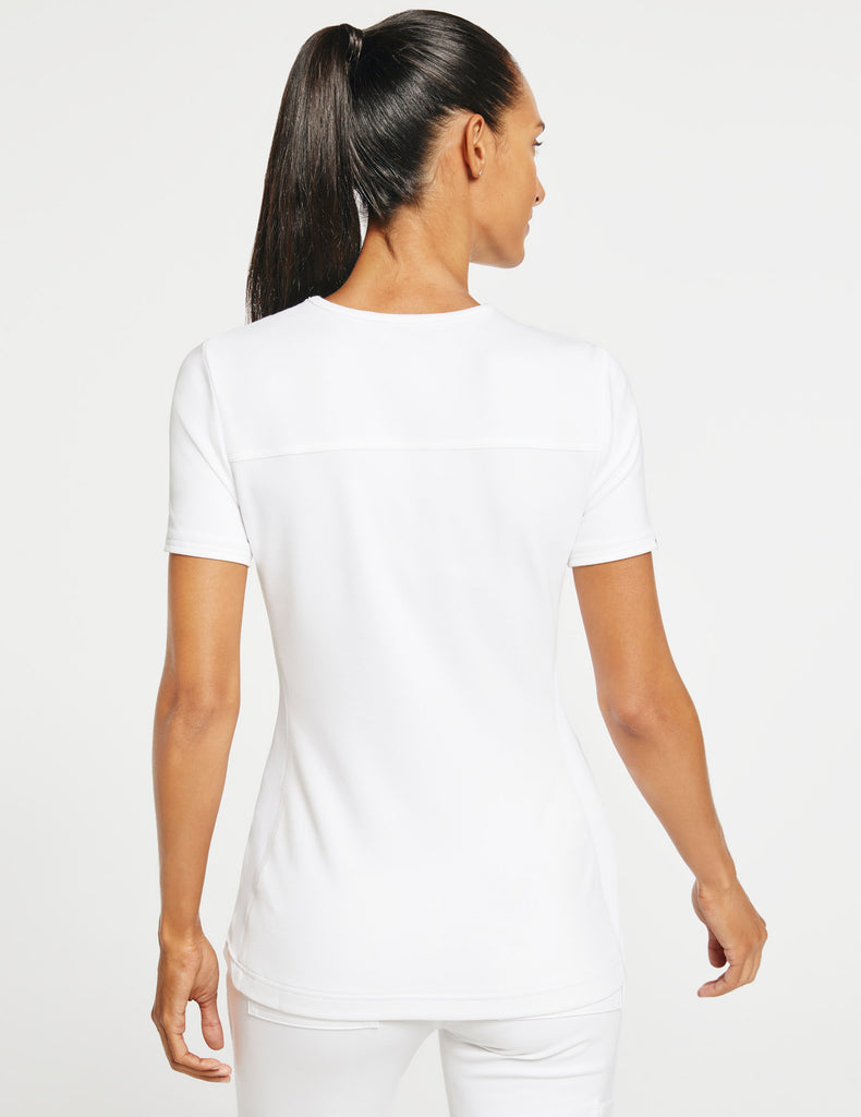 Jaanuu | Women's 2-Pocket Side-Rib Top - White - 4