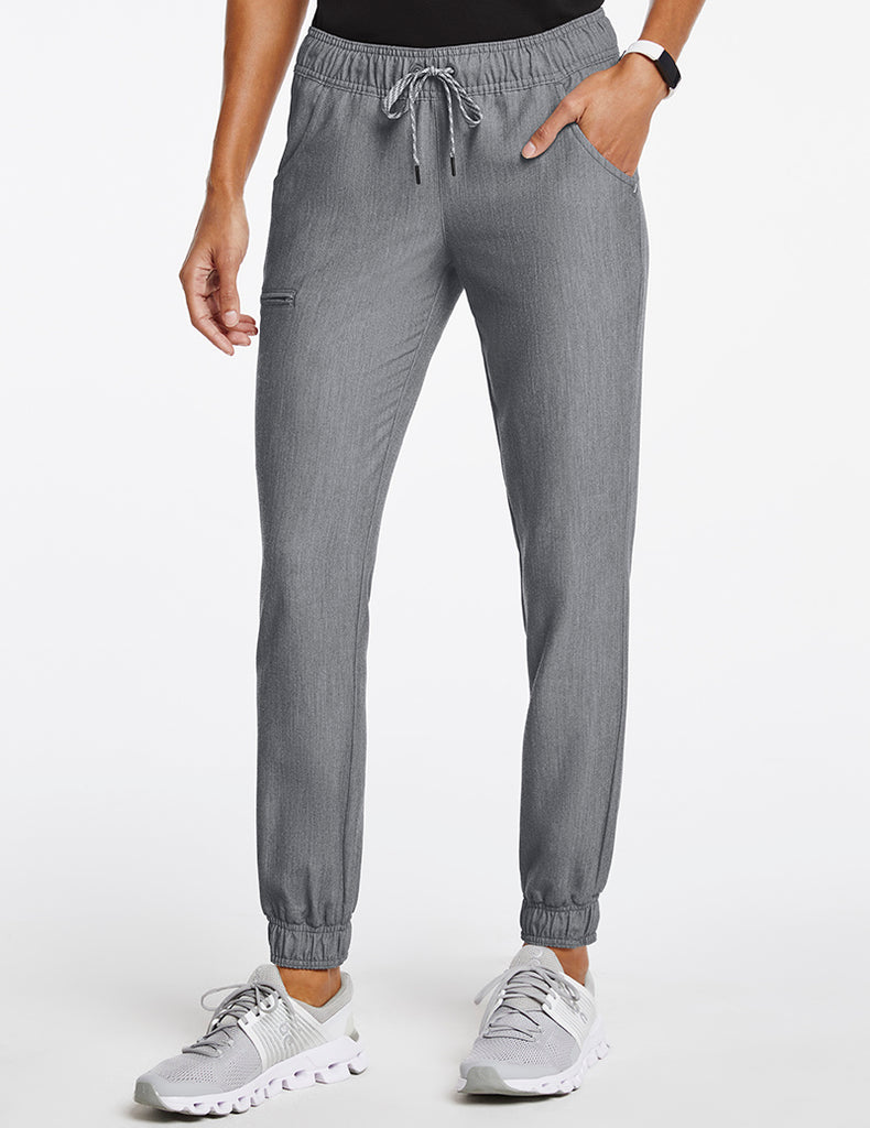 Jaanuu | Women's Essential 5-Pocket Jogger - Heather Gray - 1