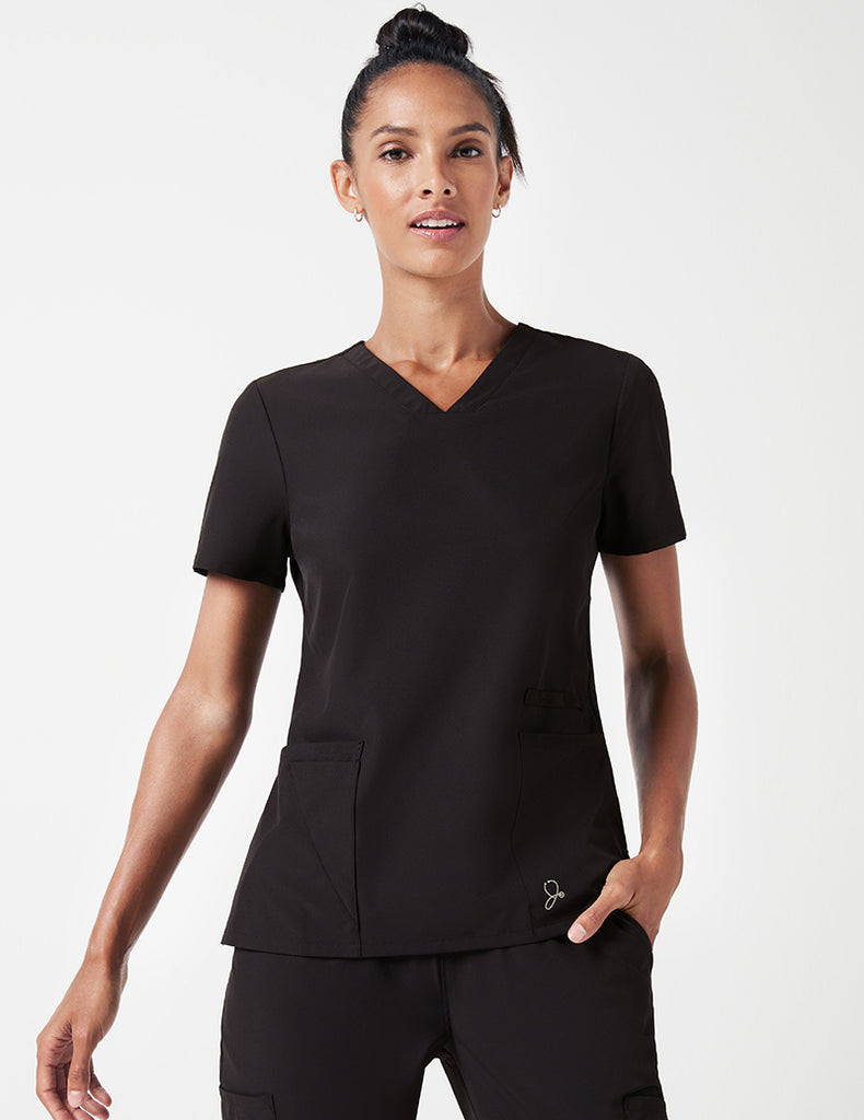 Jaanuu | Vital V-Neck Top - Black - 1