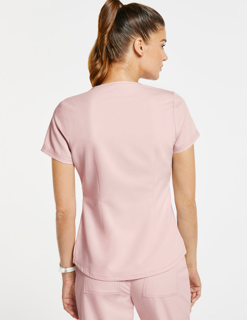 Jaanuu | Women's 1-Pocket Tuck-In Top - Blushing Pink - 4