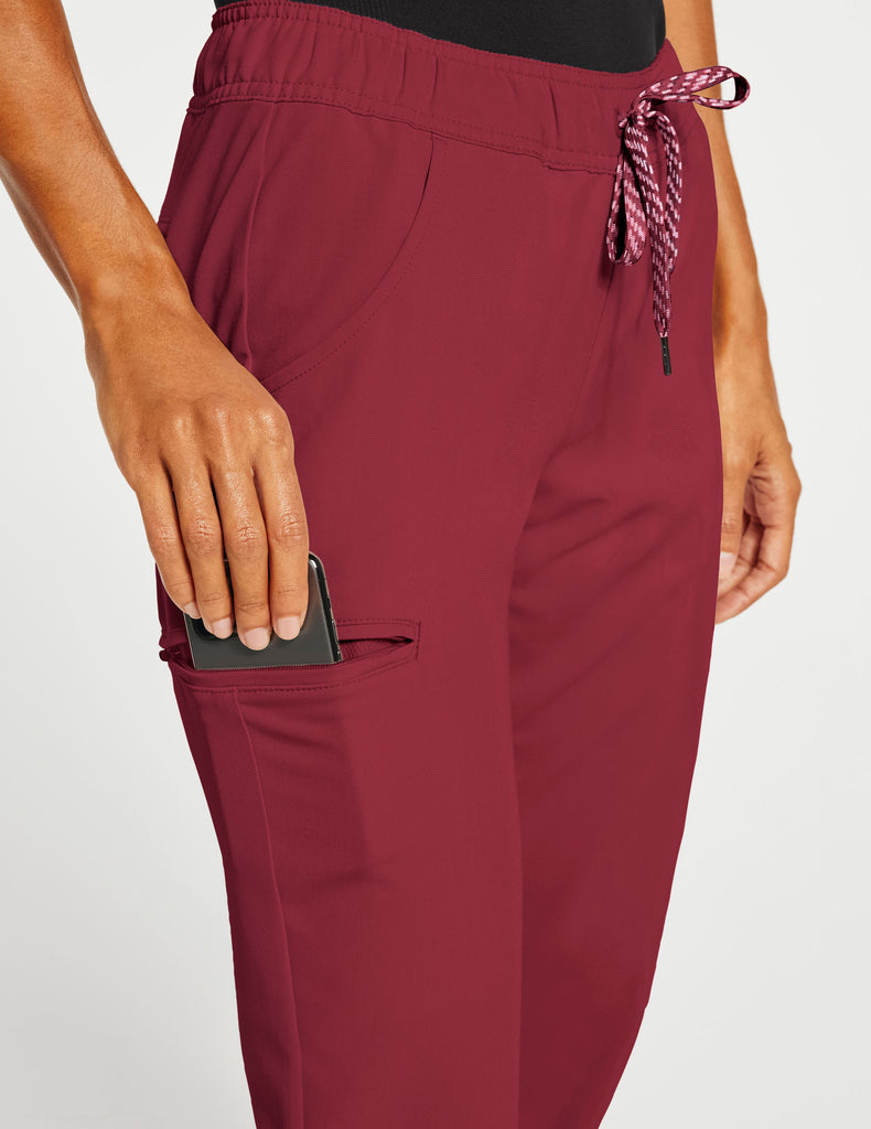 Jaanuu | Women's Essential 5-Pocket Jogger - Wine - 5